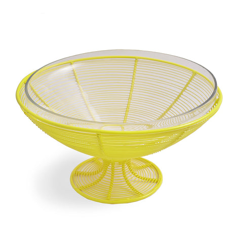 Fruit Bowl With Glass: Yellow