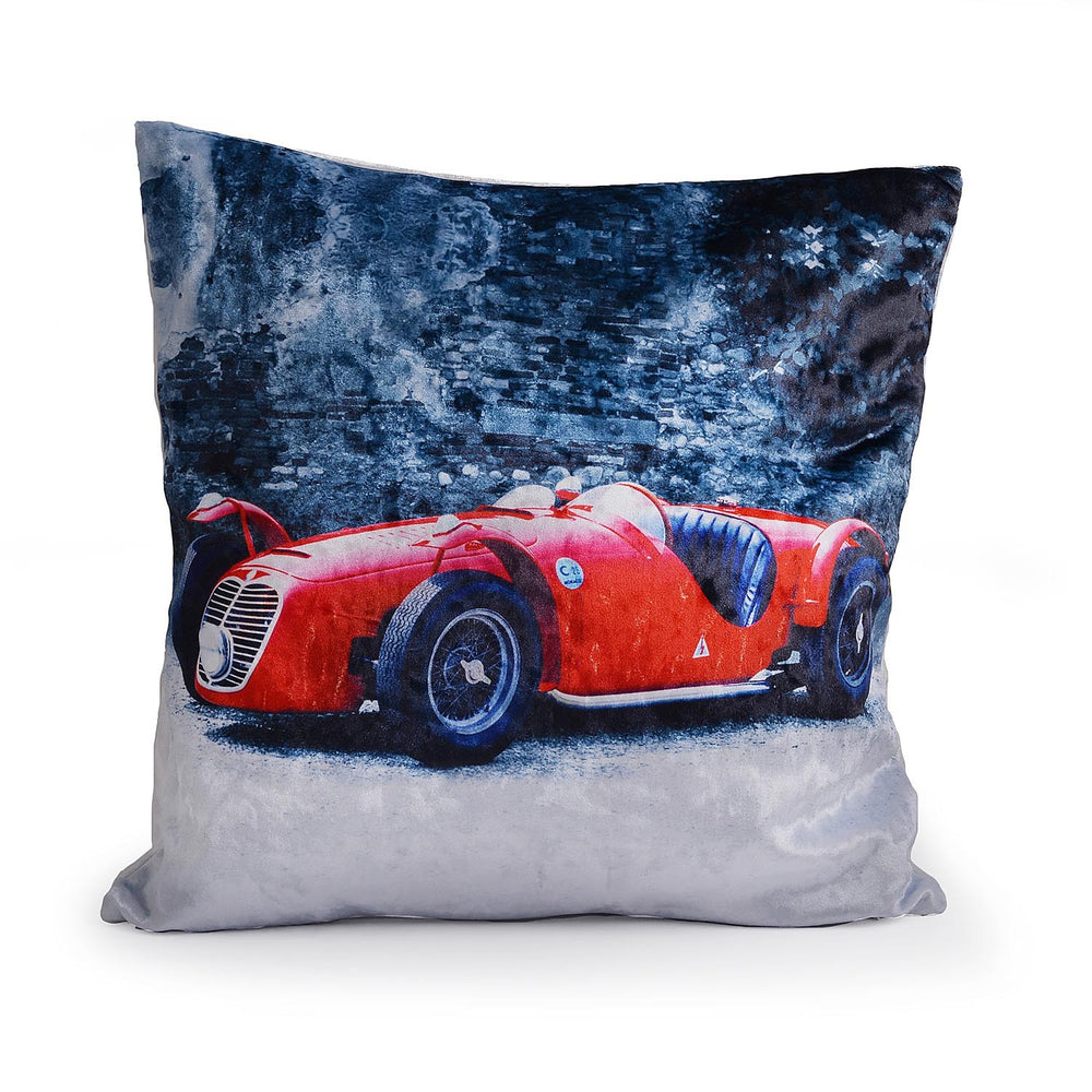 Red Car Print Cushion Cover