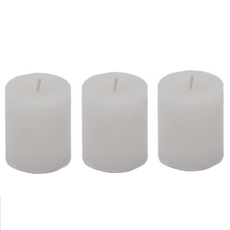 "Smokeless Hand Poured Wax Candles, 2"" X 1.5"" (Set Of 3)"
