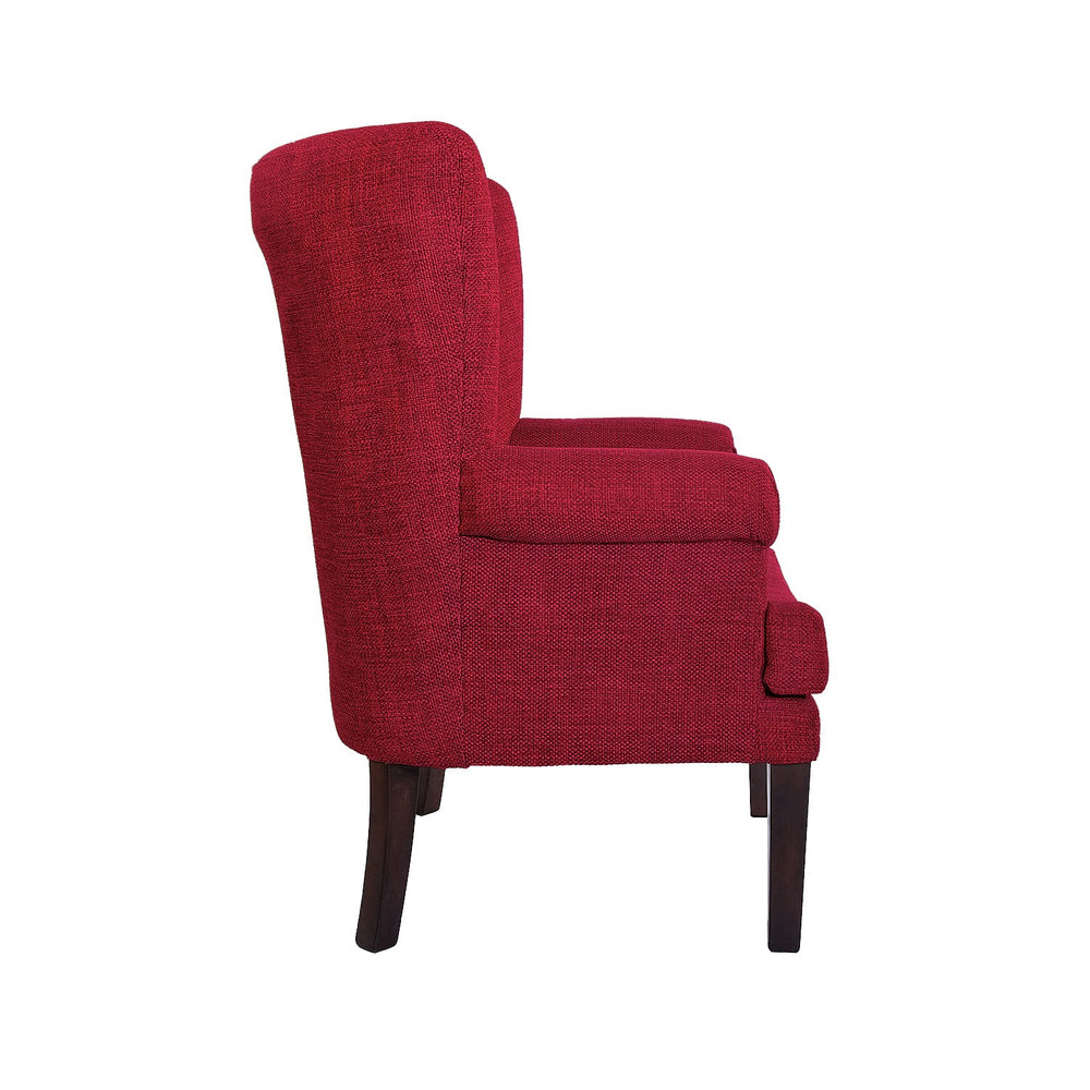 Wingback Armchair: Red