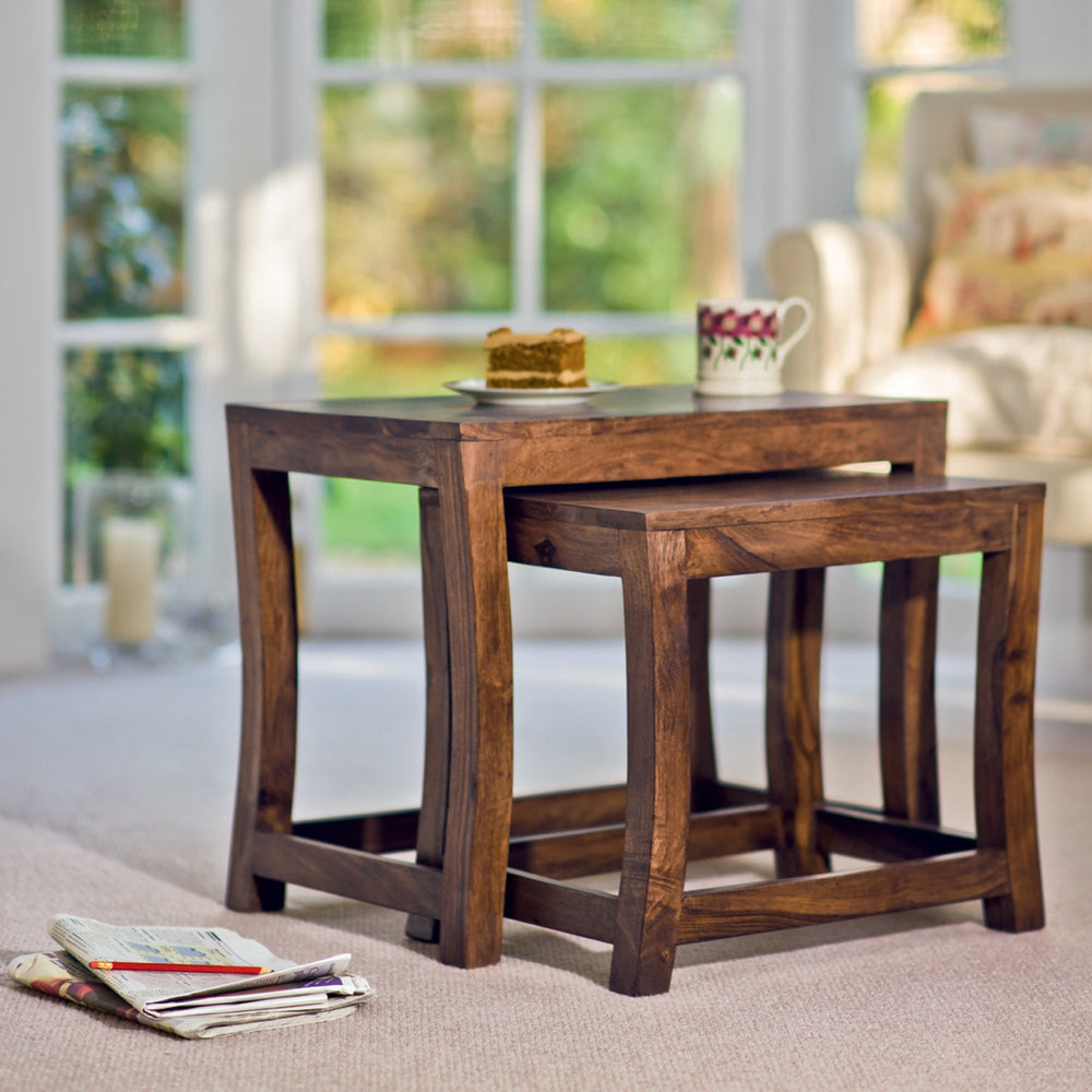 Wooden Nesting Table (Set Of 2)