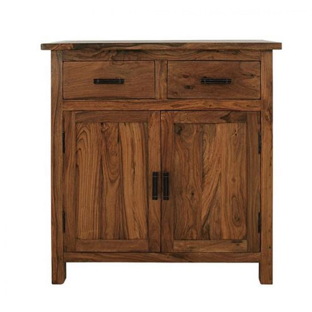 Natural Finish Cabinet With 2 Drawers