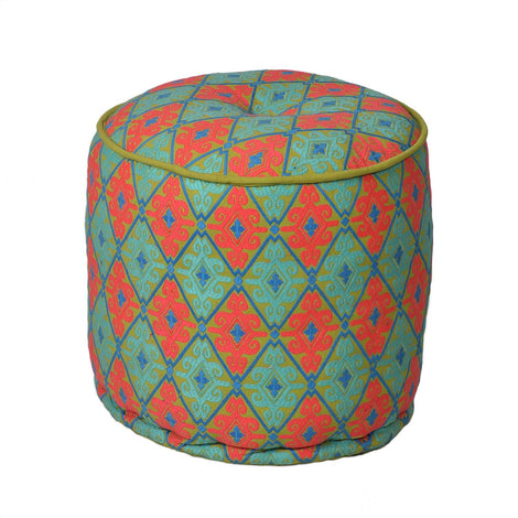 Embroidered Pouffe