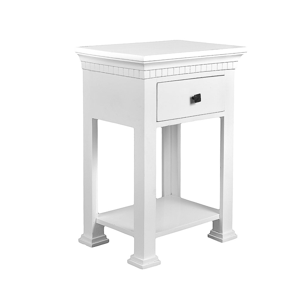 White Corner Table