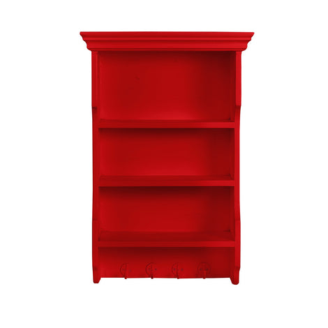 3 Tiered Red Shelf