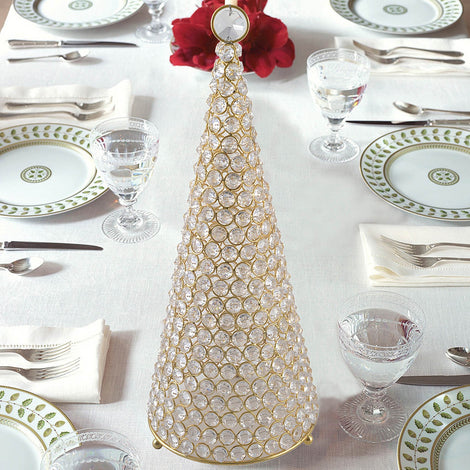 Golden Crystal Christmas Tree