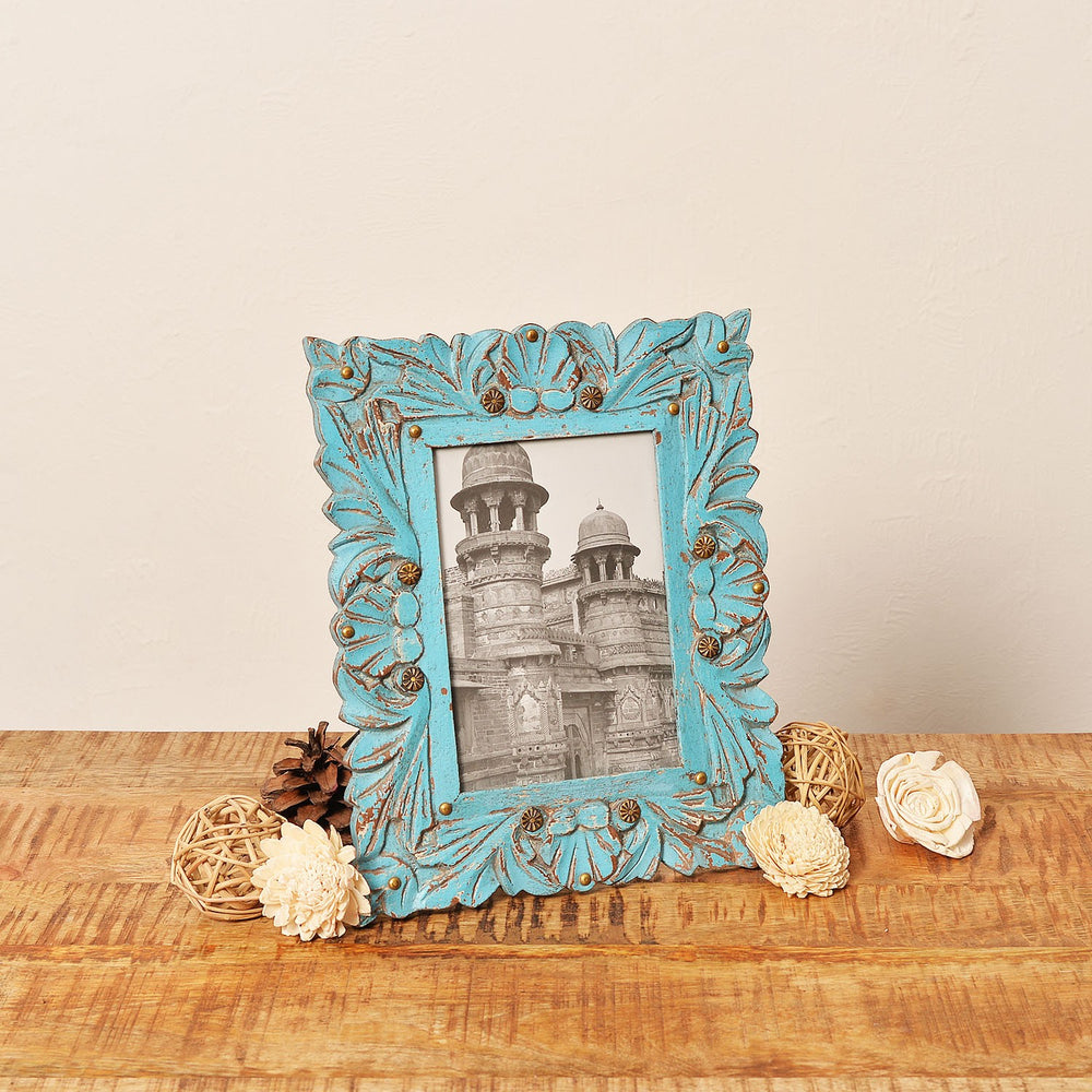 Rustic Blue Photo Frame, 4 X 6