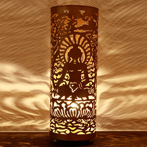 Buddha Large Table Lamp: Gold