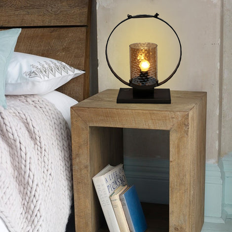 Circular Glass Table Lamp