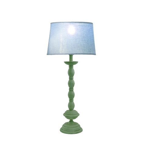 Antique Lime Green Table Lamp