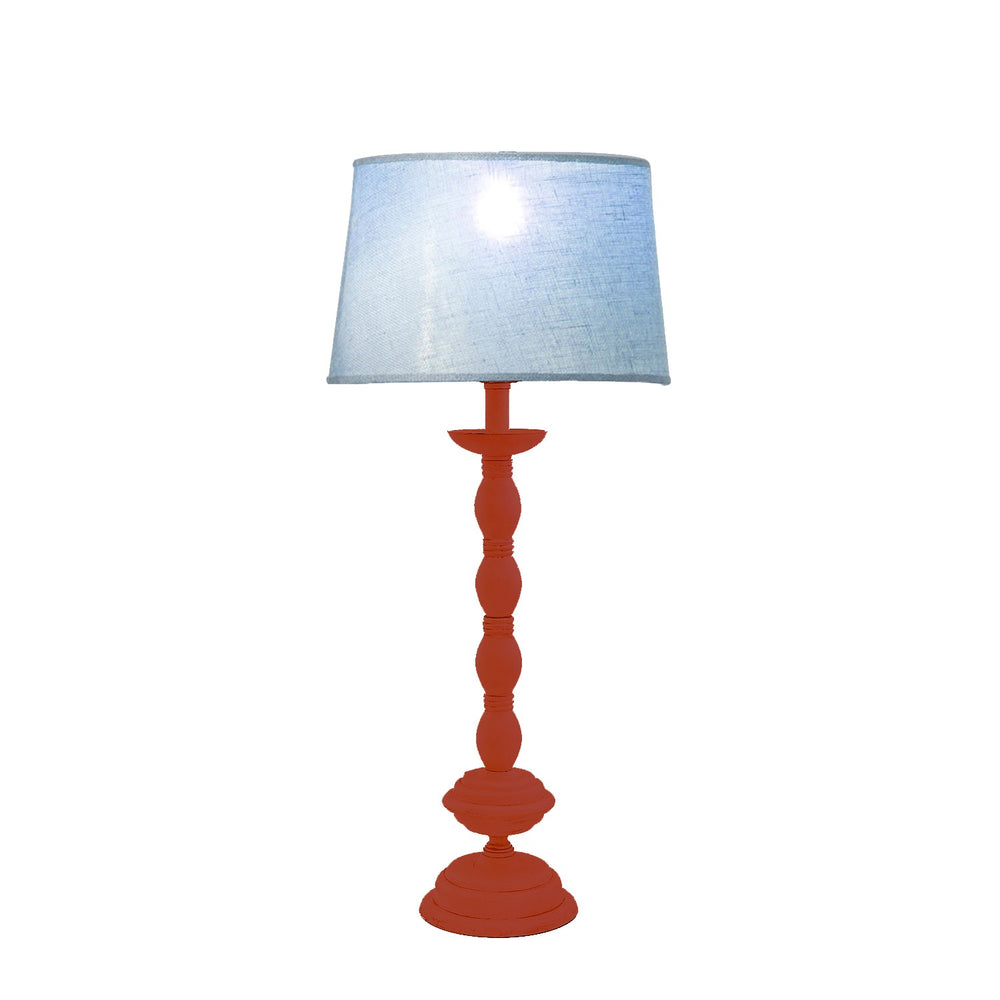 Antique Orange Table Lamp