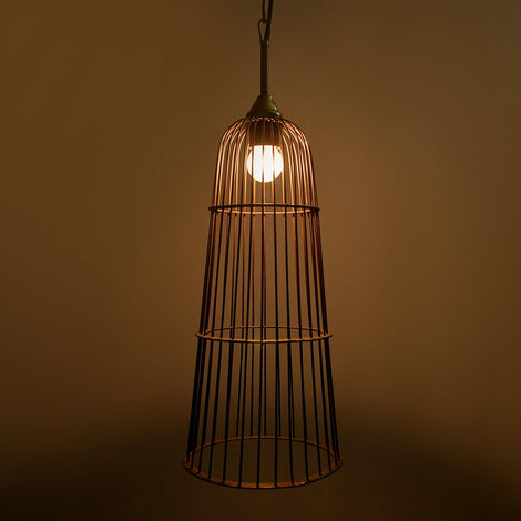 Cage Hanging Light: Antique Gold