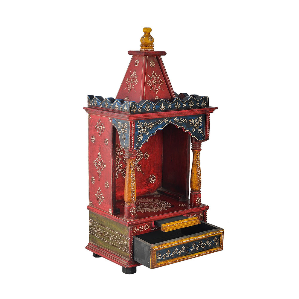 Multicolour Temple With 1 Drawer