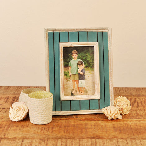 Wooden Antique Painted Photo Frame, 4 X 6
