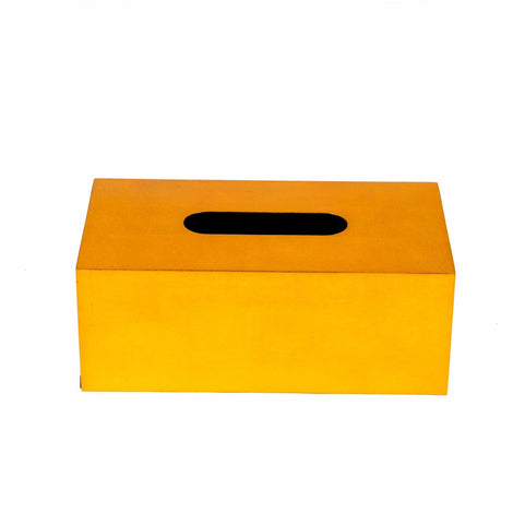 Lacquer Tissue Box: Gold