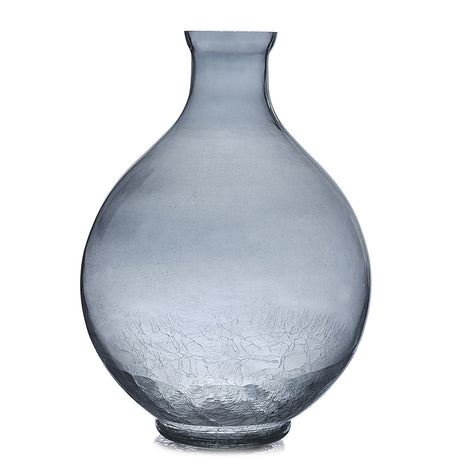Smoky Crackled Bubble Vase