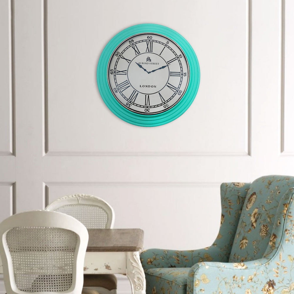 Harriett Wall Clock: Turquoise
