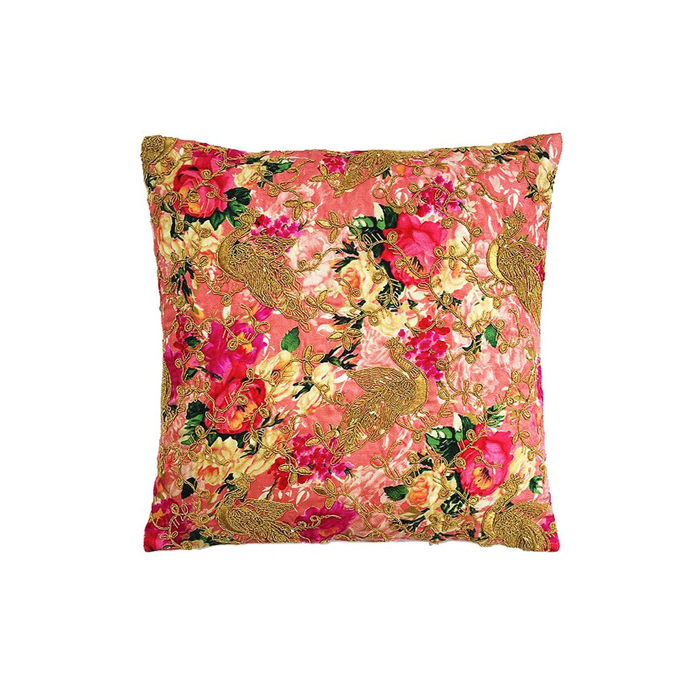 Vintage Garden Fushia Cushion Cover