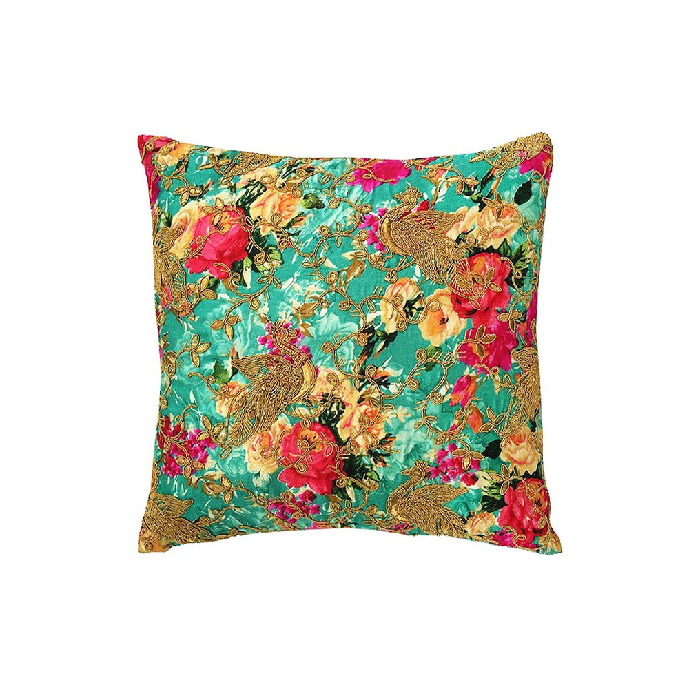 Vintage Garden Turq Cushion Cover