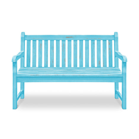 Wooden Bench: Antique Blue