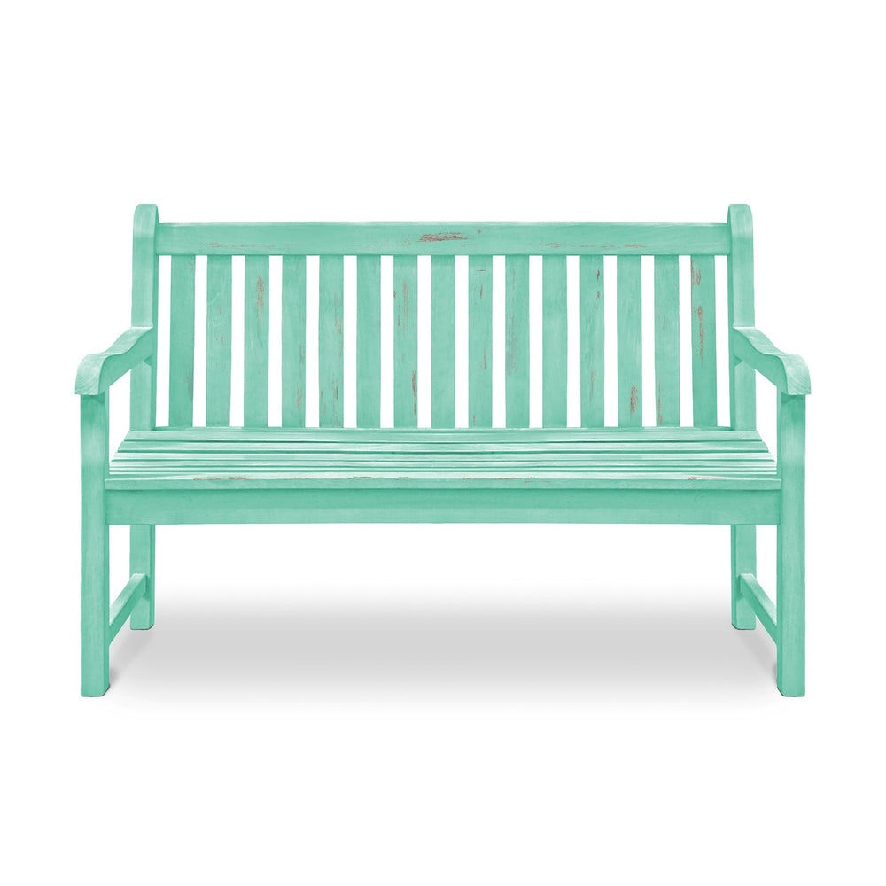 Wooden Bench: Antique Turquoise
