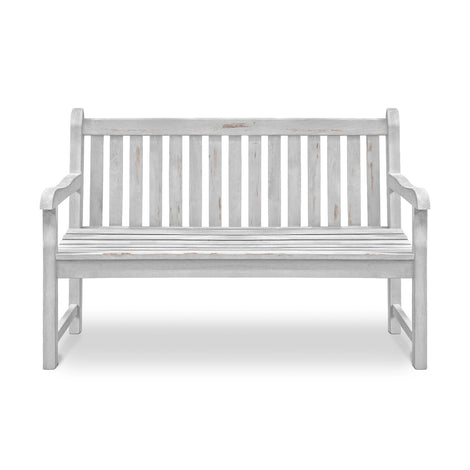 Wooden Bench: Antique White