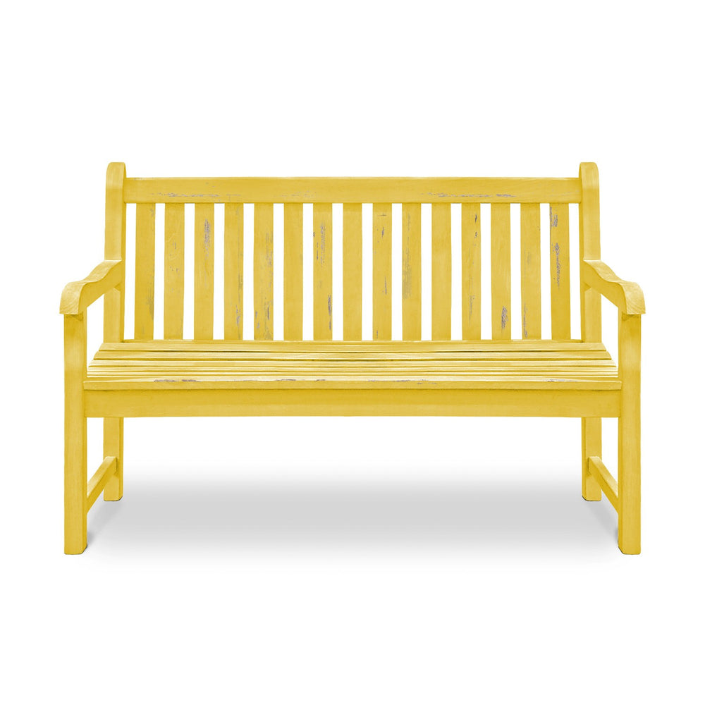 Wooden Bench: Antique Yellow