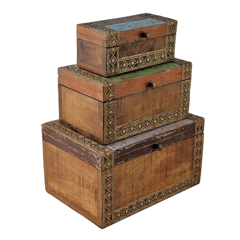 Multipurpose Jewellery Boxes (Set Of 3)