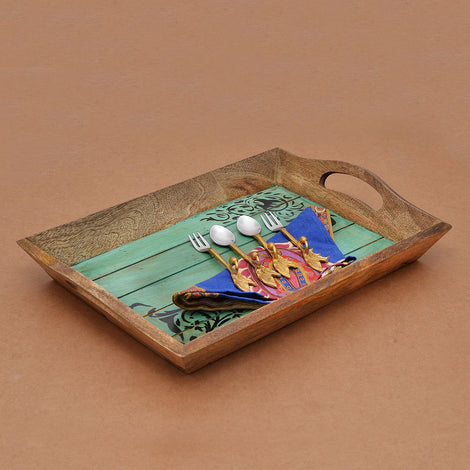 Handpainted Multipurpose Natural Green Tray
