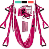 Yoga4You Aerial Yoga Swing Set - Yoga Hammock Swing - Trapeze Yoga Kit - 2 Extension Straps - Wide Flying Yoga Inversion Tool - Antigravity Ceiling Hanging Yoga Sling - Adult Kids Arial Toga - Sinful Sensual Dimensions