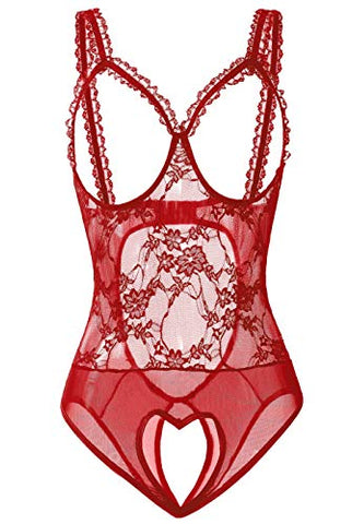 red hollow lingerie