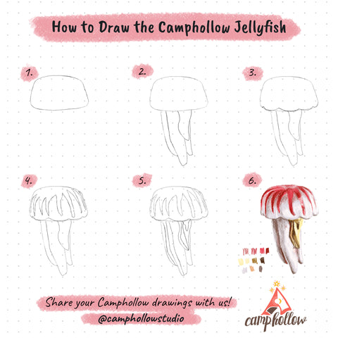 How to Draw the Camphollow Jellyfish