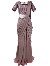 AVERY STITCHED SAREE - Leharr Collection