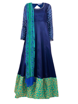 THE LAPIS ANARKALI GOWN - Leharr Collection