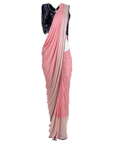 COTTON CANDY STITCHED SARI