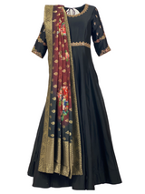 NOIRE ANARKALI GOWN - Leharr Collection