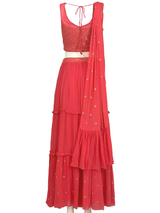 SAAVA LEHENGA SET - Leharr Collection
