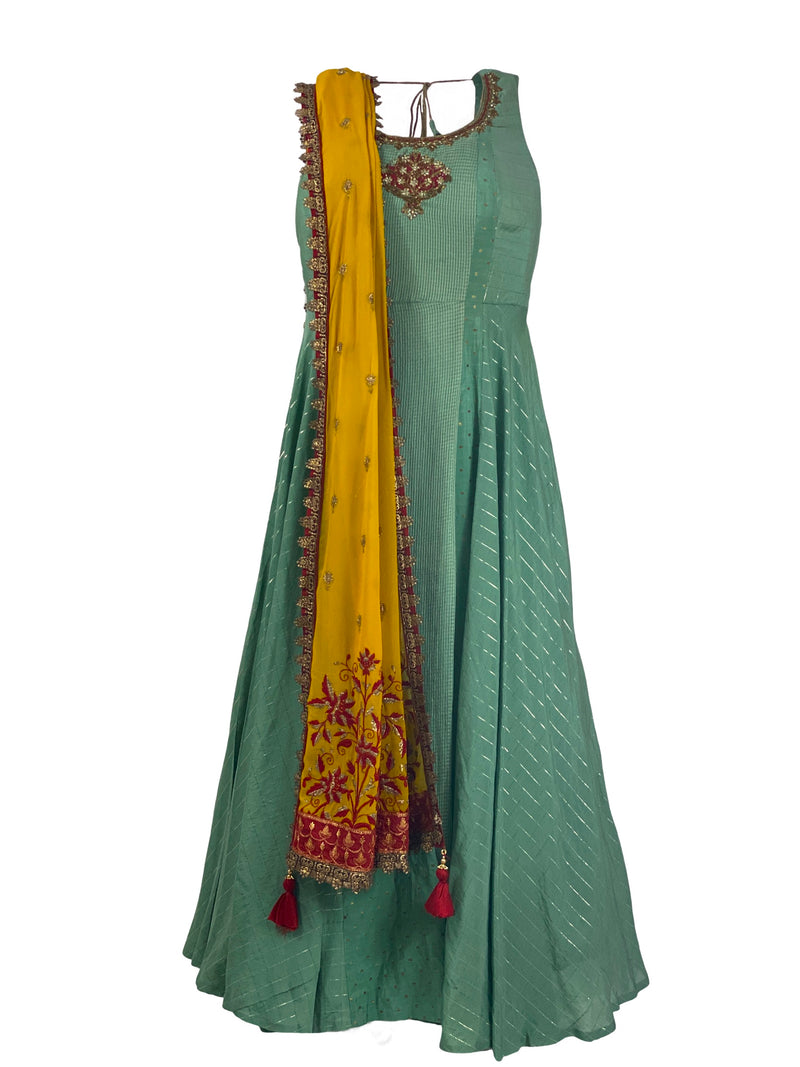 THE PINE ANARKALI GOWN