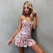 Strapless Rose Dress