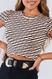 Retro Ruffled Crop Top