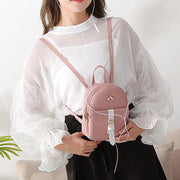 Leather Mini Shoulder Backpack
