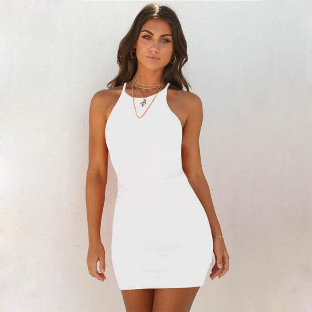 Halter Bodycon Dress