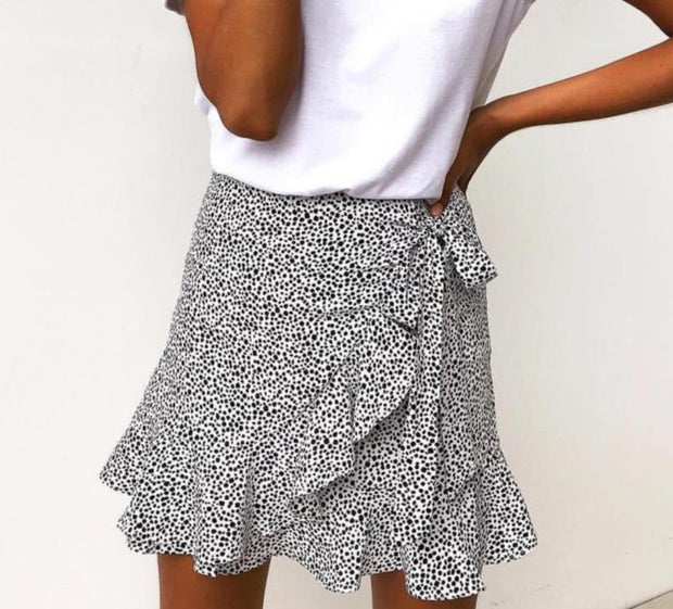 Polka Dot Ruffle Skirt