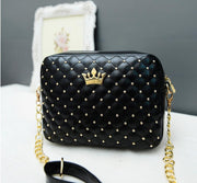 Crown Studded Shoulder Bag