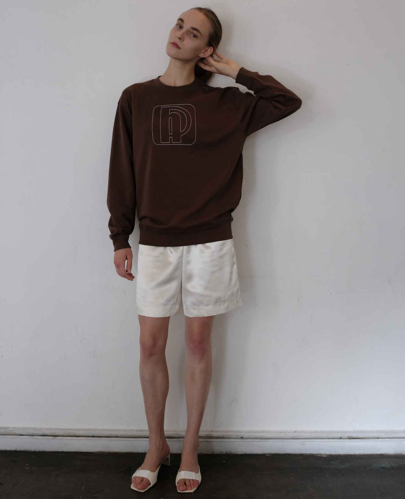 soap dish sweat shirt/brown