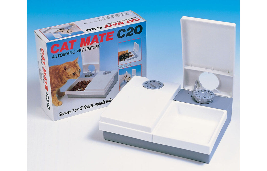 Pet Mate C20 Cat Double Meal Feeder With Ice Pack