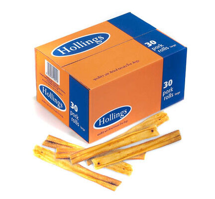 Hollings Pork Rolls Bulk Natural Dog Chews Box of 30