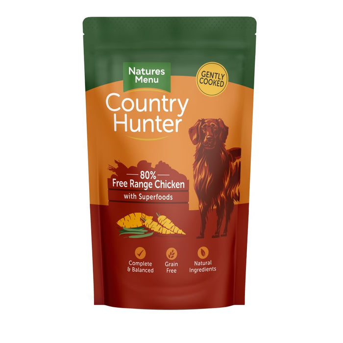 Natures Menu Country Hunter 80% with Superfoods Dog Pouch 150g