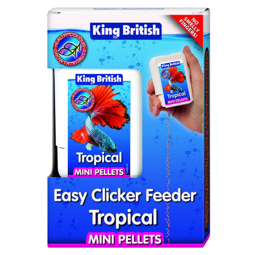 King British Tropical Fish Food Pellets Easy Feeder 30g