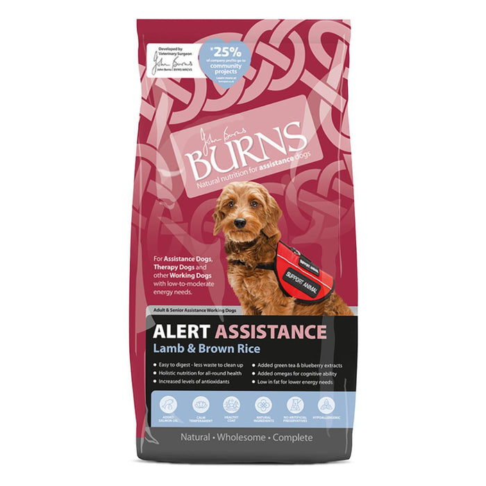 Burns Alert Lamb & Brown Rice Dry Dog Food 12kg